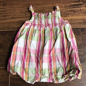 Old navy 0-3 mo plaid romper